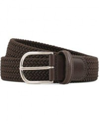 Anderson's Stretch Woven 3,5 cm Belt Brown men 90 Brun