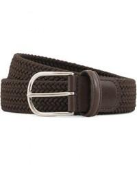 Anderson's Stretch Woven 3,5 cm Belt Brown men 95 Brun