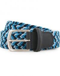 Anderson's Stretch Woven 3,5 cm Belt Multi Blue men 85 Blå