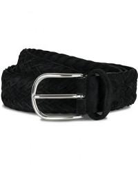 Anderson's Woven Suede 3,5 cm Belt Black men 105