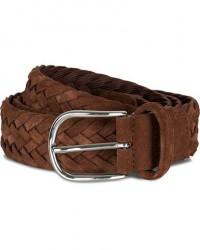 Anderson's Woven Suede 3,5 cm Belt Light Brown men 100
