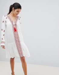 Anmol Embroidered Beach Cover Up - White
