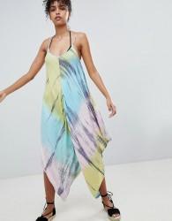 Anmol Tie Dye Maxi Beach Jumpsuit - Multi