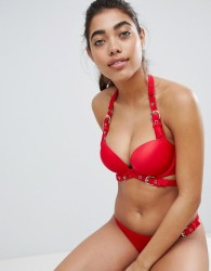 Ann Summers Eleko Triple Boost Bikini Top - Red