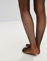 Ann Summers Micro Fishnet Seamed Hold Ups - Black