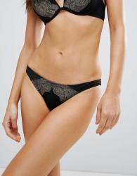 Ann Summers Orchid Bikini Bottom - Black