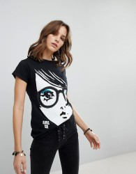 Anna Sui Face Jersey T-Shirt - Black