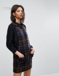 Anna Sui Pinafore Dress in Chunky Tweed - Multi