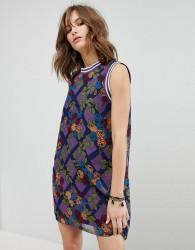 Anna Sui Rose Trellis Chiffon Shift Dress - Multi