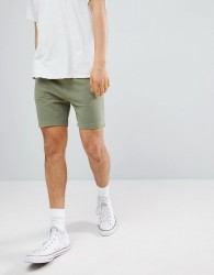 Another Influence Basic Peached Jersey Shorts - Green