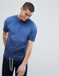 Another Influence Burn Out Short Sleeve Sweat - Blue