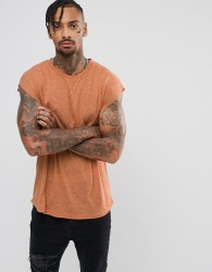 Another Influence Cap Sleeve Vest - Brown