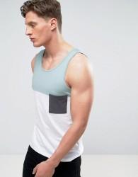 Another Influence Colour Block Vest - Blue