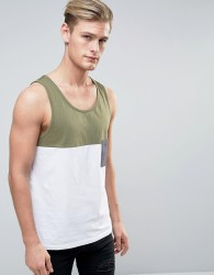 Another Influence Colour Block Vest - Green