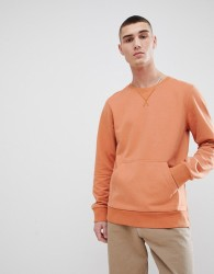 Another Influence Crew Neck Front Pocket Sweat - Brown