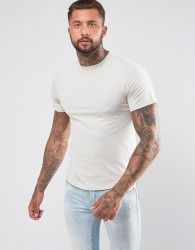 Another Influence Curved Hem T-Shirt - Grey