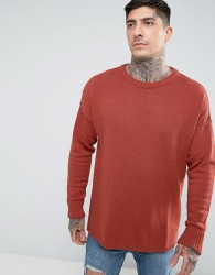 Another Influence Drop Shoulder Knitted Jumper - Brown