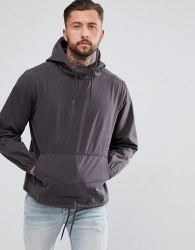 Another Influence Enzyme Wash Overhead Jacket - Black
