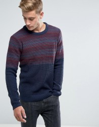 Another Influence Jacquard Block Knitted Jumper - Red