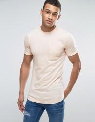 Another Influence Long Line Fine Stripe T-Shirt - Orange