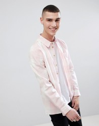 Another Influence Long Sleeve Brushed Cotton Check Shirt - Pink