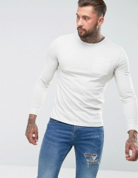 Another Influence Long Sleeve Pocket T-Shirt - Grey