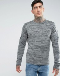 Another Influence Melange Slouchy Knit Jumper - Grey