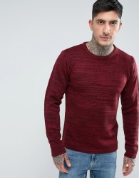 Another Influence Melange Slouchy Knit Jumper - Red