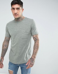 Another Influence Nep Marl Pocket Longline T-Shirt - Green