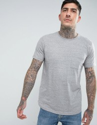 Another Influence Nep Marl Pocket Longline T-Shirt - Grey