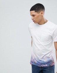 Another Influence Ombre Tropical Print T-Shirt - Pink