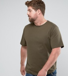 Another Influence PLUS Curved Hem T-Shirt - Green