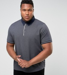 Another Influence PLUS Pique Polo with Contrast Polo - Navy