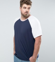 Another Influence PLUS Raglan Baseball T-Shirt - White