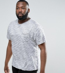 Another Influence PLUS Space Dye Raw Edge T-Shirt - Grey