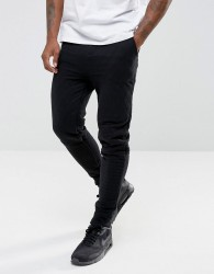 Another Influence Quilted Slim Fit Jog Trouser - Black