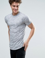 Another Influence Space Dye Raw Edge T-Shirt - Grey