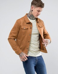 Another Influence Suedette Jacket - Tan