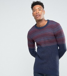 Another Influence TALL Jacquard Block Knitted Jumper - Red