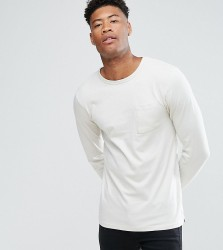 Another Influence TALL Long Sleeve Pocket T-Shirt - Grey