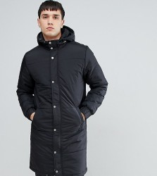 Another Influence TALL Longline Quilted Coat - Black