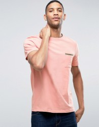 Another Influence Tape Edge Pocket T-Shirt - Pink