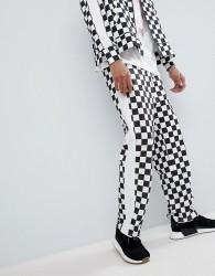 Antimatter Joggers In Checkerboard - Black