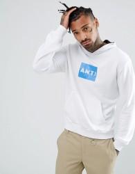 Antioch Block Gloss Logo Hoodie - White