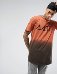 Antioch Dip Dye Symbol T-Shirt - Brown