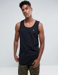Antioch Oversized Racer Back Vest - Black