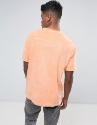 Antioch Oversized Towelling T-Shirt - Orange