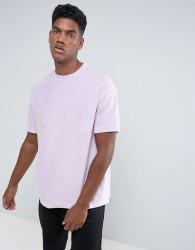 Antioch Oversized Velour T-Shirt - Purple