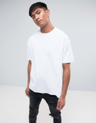 Antioch Oversized Velour T-Shirt - White