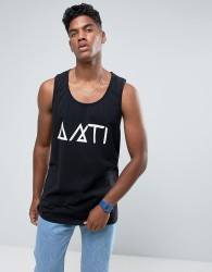 Antioch Relaxed Fit Racer Back Vest - Black